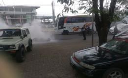Lima Unit Mobil Di Rusak Akibat Bentroknya LSM Di Karawang