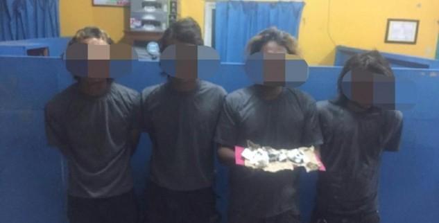 Membawa ganja, 4 Anak Punk Asal Jatim Diamankan Di Polres Aceh