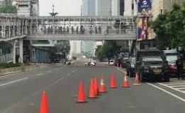 Jalan MH Thamrin Terpantau Normal